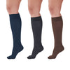 AW Women's Microfiber Trouser Socks - 15-20 mmHg (Variety Pack) - Black/Espresso/Navy Diamond