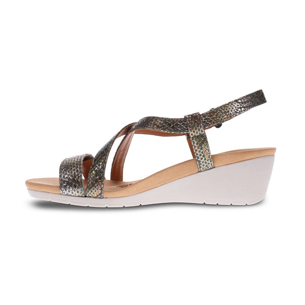 Revere Women's Luxor 2 Strap Wedge Sandals