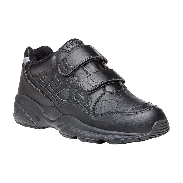 Propet Men's Stability Walker Strap Shoes Black