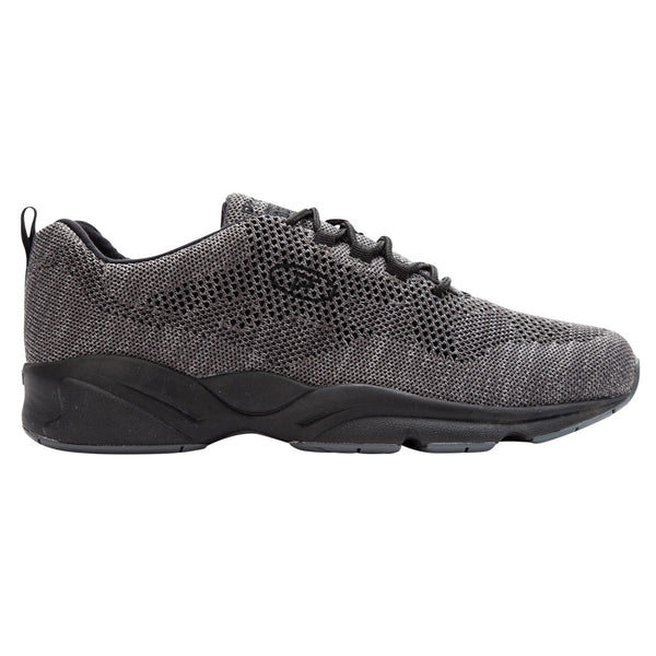 Propet Men's Stability Fly Shoes Dark Grey/Light Grey