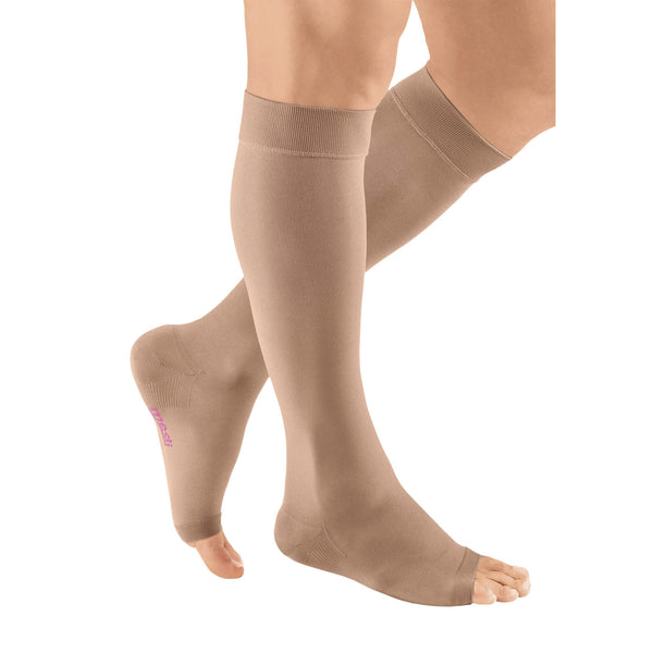Medi Plus Open Toe Knee Highs - 20-30 mmHg - Beige