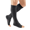 Medi Plus Open Toe Knee Highs - 20-30 mmHg - Black