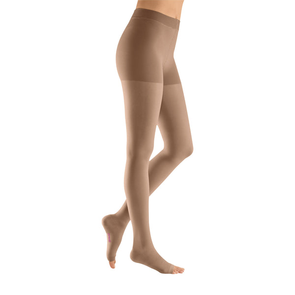 Medi Plus Open Toe Pantyhose - 30-40 mmHg