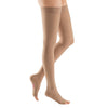 Medi Plus Open Toe Thigh Highs w/Silicone Dot Band - 30-40 mmHg