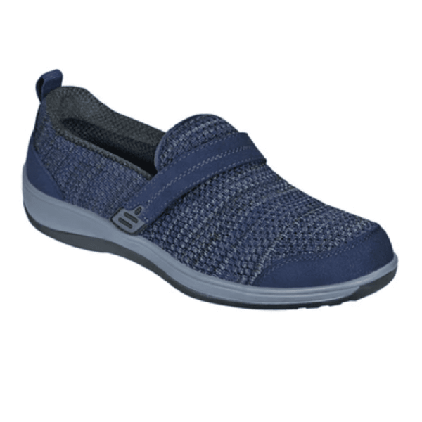 Orthofeet Women's Quincy Slip-On Shoes Blue