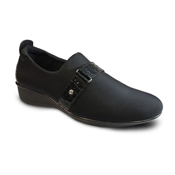 Revere Women's Genoa Stretch Loafer Black
