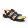 Revere Women's Toledo Backstrap Sandals Navy