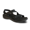 Revere Women's Zanzibar Backstrap Sandals Black