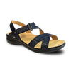 Revere Women's Zanzibar Backstrap Sandals Navy