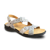 Revere Women's Zanzibar Backstrap Sandals Teal Snake