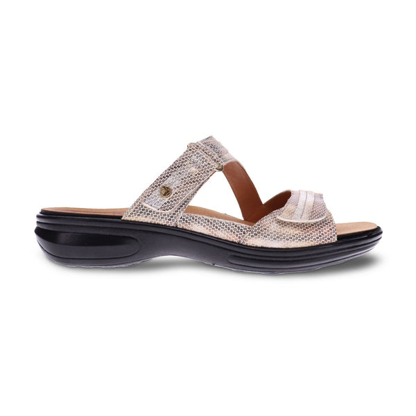 Revere Women's Rio 2 Strap Slide Sandals