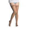 Sigvaris 782 EverSheer Open Toe Thigh Highs w/ Grip Top - 20-30 mmHg - Cafe