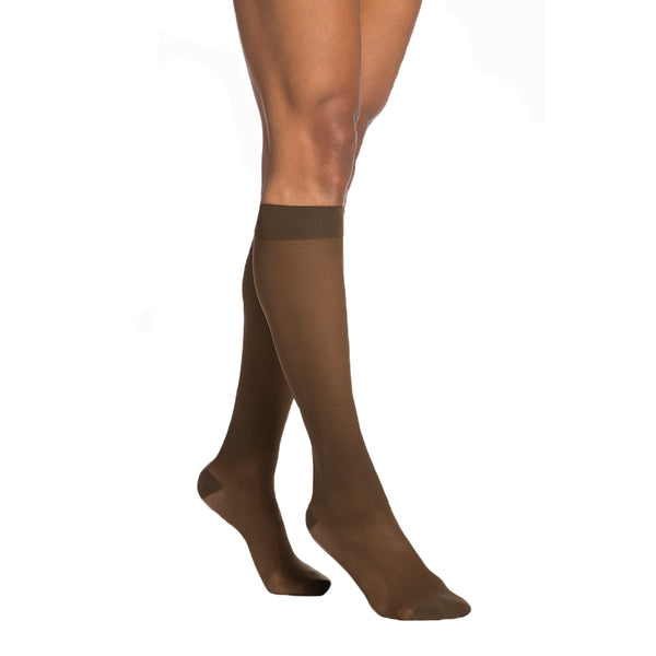 Sigvaris 783 EverSheer Open Toe Knee Highs - 30-40 mmHg - Mocha