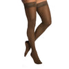 Sigvaris 783 EverSheer Open Toe Thigh Highs w/ Grip Top - 30-40 mmHg - Mocha