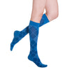 Sigvaris Compression Socks Royal Blue Argyle Microfiber Women