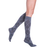 Sigvaris Compression Socks for Women Graphite Argyle