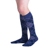 Sigvaris 832 Microfiber Shades Men's Closed Toe Knee High Socks - 20-30 mmHg - Purple Argyle