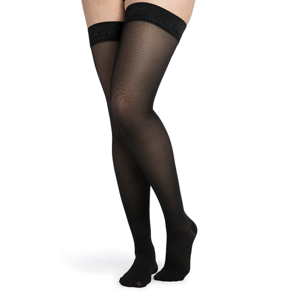 Sigvaris 752 Midsheer Women's Closed Toe Thigh Highs - 20-30 mmHg