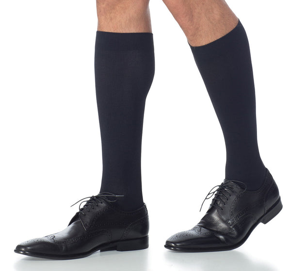 Sigvaris 822 Men's Midtown Microfiber Socks - 20-30 mmHg - Black