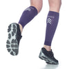 Sigvaris 412V Athletic Performance Leg Sleeves - 20-30 mmHg - Purple