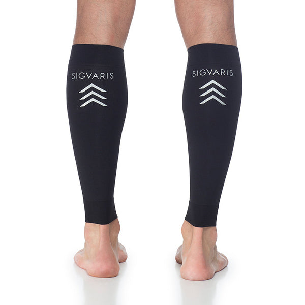 Sigvaris 412V Athletic Performance Leg Sleeves - 20-30 mmHg - Black