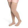 Sigvaris Secure 553 Men's Closed Toe Thigh Highs w/Silicone Band - 30-40 mmHg Beige