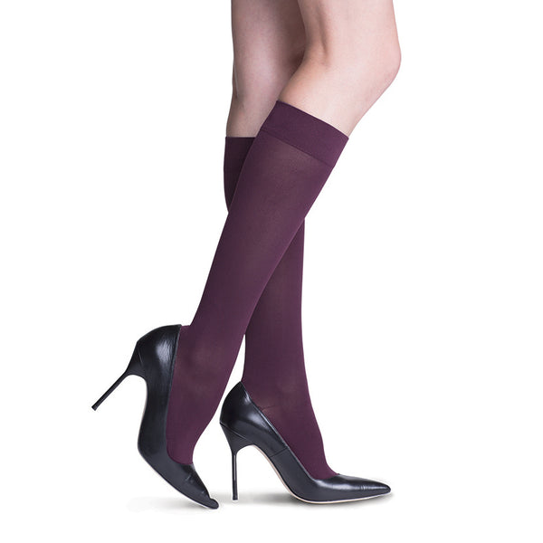 Sigvaris 841 Soft Opaque Closed Toe Knee Highs - 15-20 mmHg