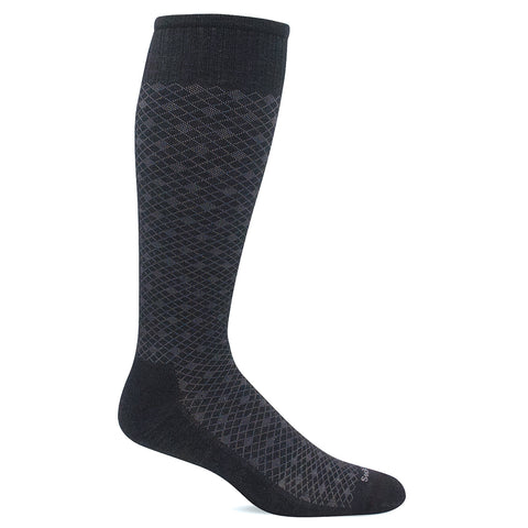 SockWell Men's Featherweight Knee High Socks - 15-20 mmHg Black Multi