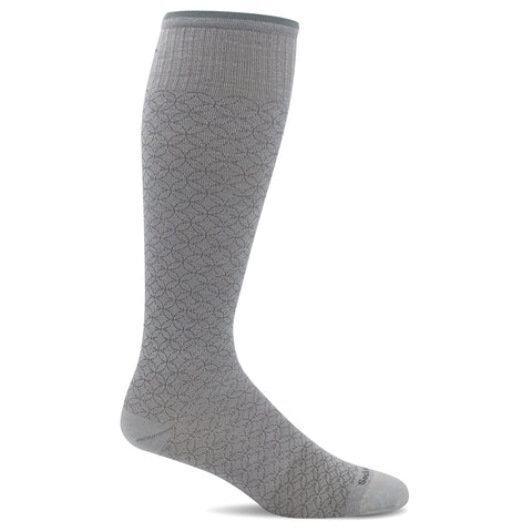 SockWell Women's Featherweight Fancy Knee High Socks - 15-20 mmHg Natural