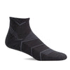 SockWell Men's Incline Quarter Socks - 15-20 mmHg Black Solid