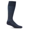 SockWell Men's Shadow Box Knee High Socks - 15-20 mmHg Navy
