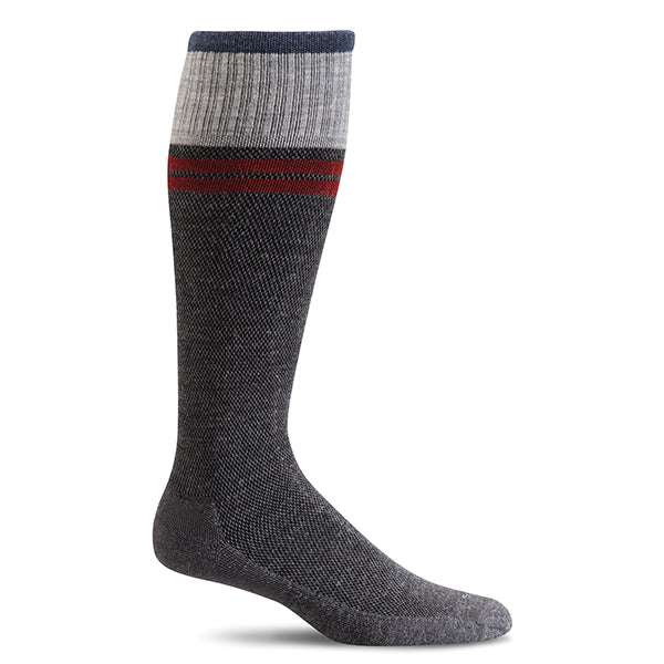 SockWell Men's Sportster Knee High Socks - 15-20 mmHg Charcoal