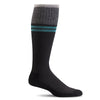 SockWell Men's Sportster Knee High Socks - 15-20 mmHg Black