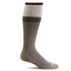 SockWell Men's Sportster Knee High Socks - 15-20 mmHg Khaki