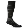 SockWell Men's Circulator Knee High Socks - 15-20 mmHg Black Stripe
