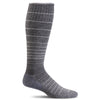 SockWell Women's Circulator Knee High Socks - 15-20 mmHg Charcoal