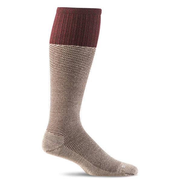 SockWell Men's Bart Knee High Socks - 15-20 mmHg Khaki