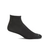 SockWell Men's Plantar Ease Quarter Sock Black