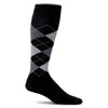 SockWell Men's Argyle Circulator Knee High Socks - 15-20 mmHg Black