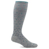 SockWell Women's On the Spot Knee High  Socks - 15-20 mmHg Ash