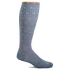 SockWell Women's On the Spot Knee High  Socks - 15-20 mmHg Bluestone
