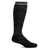 SockWell Women's Full Flattery Knee High Socks - 15-20 mmHg Black