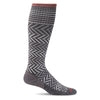 SockWell Women's Chevron Knee High Socks - 15-20 mmHg Charcoal