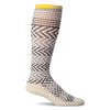 SockWell Women's Chevron Knee High Socks - 15-20 mmHg Natural
