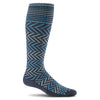 SockWell Women's Chevron Knee High Socks - 15-20 mmHg Navy