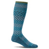 SockWell Women's Chevron Knee High Socks - 15-20 mmHg Teal