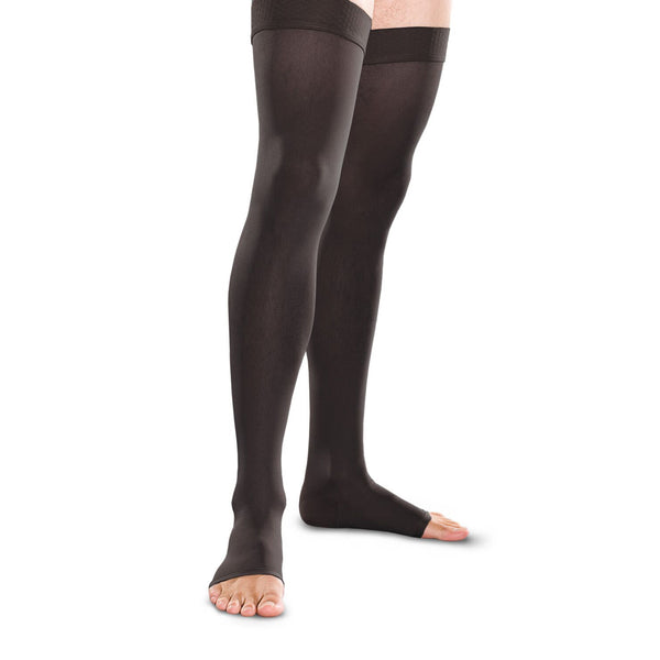 Therafirm Men's and Women's Open Toe Thigh Highs w/Grip Top - 30-40 mmHg