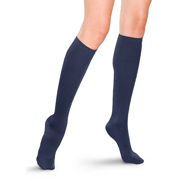 Therafirm Women's Knee High Trouser Socks - 15-20 mmHg - Navy