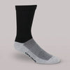 Therafirm Core-Spun Light Support Men's and Women's Crew Socks 10-15 mmHg Black