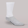 Therafirm Core-Spun Light Support Men's and Women's Crew Socks 10-15 mmHg White